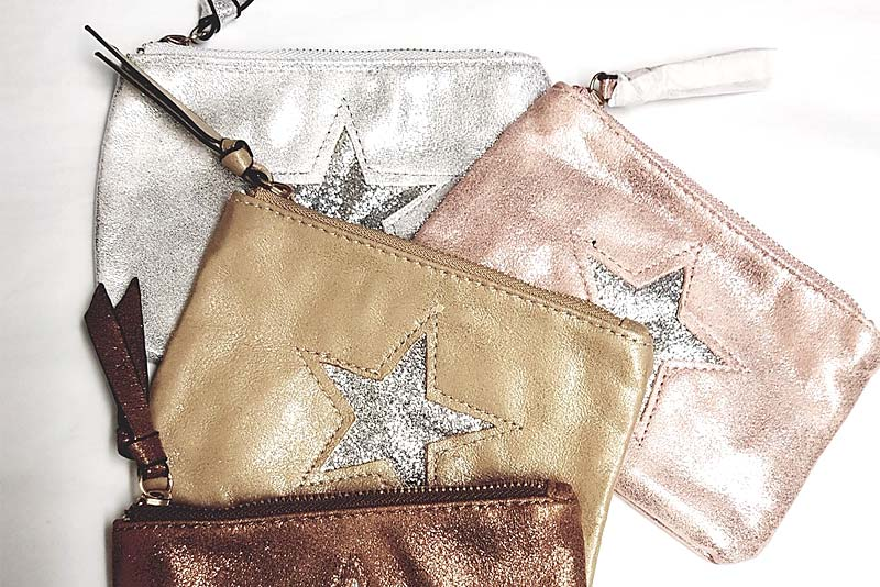 Metallic Star Purses