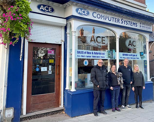 ACE compter store front in newport