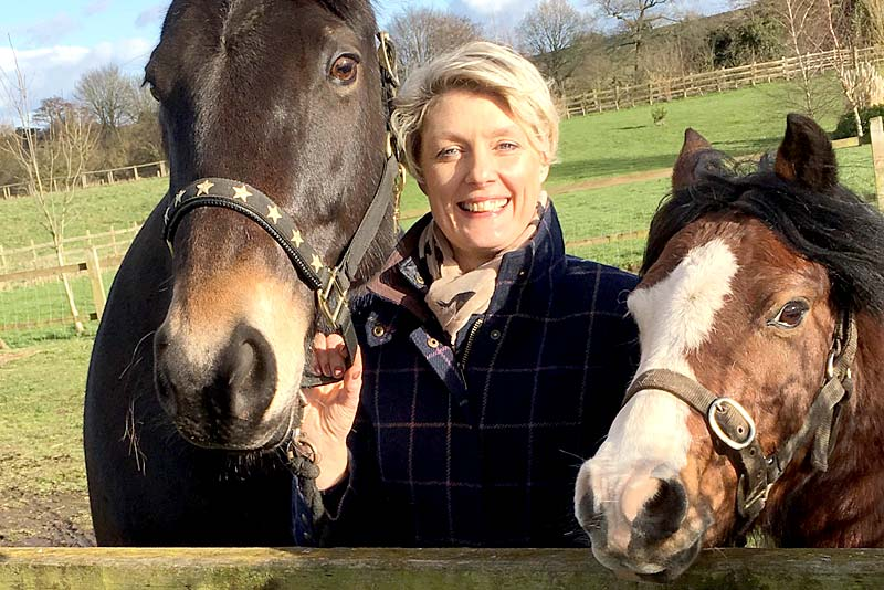 sally western with her horse melody
